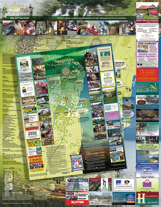 Several years ago, a local Hudson Valley business association asked if I would be interested in designing a map of its township with a listing of the business association's membership and points of interest...